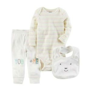 Carter's Baby Bear You + Me 3Pc Outfit Set